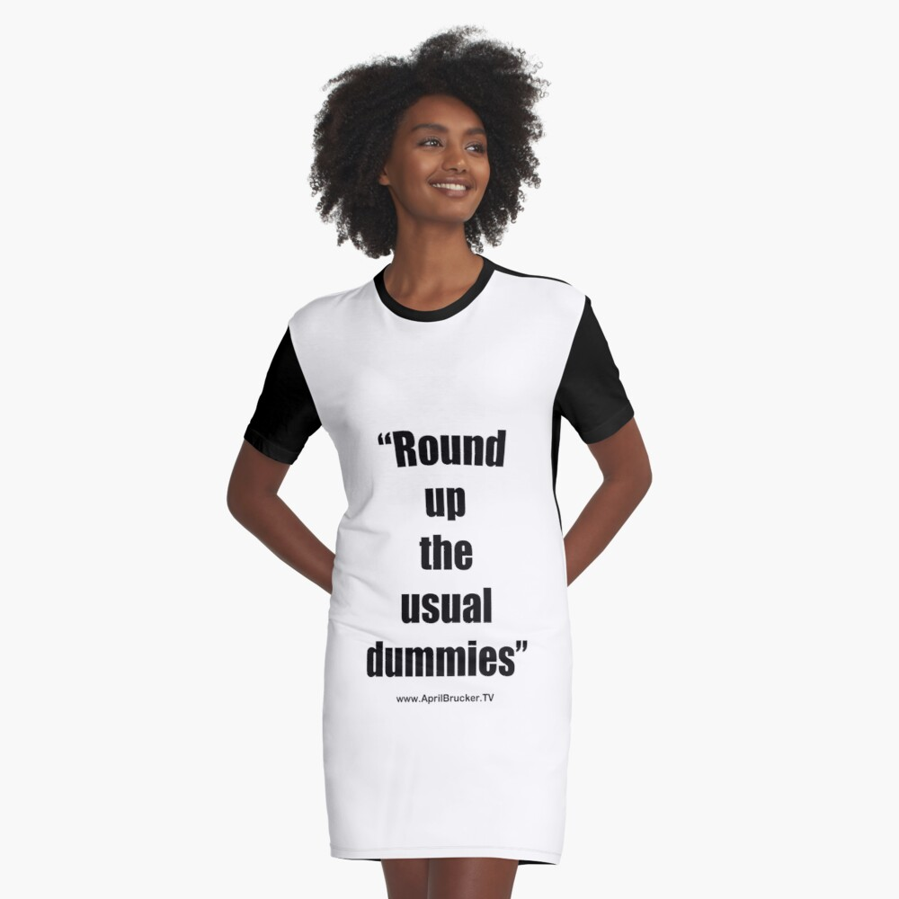 The Usual Dummies! Graphic T-Shirt Dress