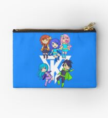 Funneh and the Krew White Zipper Pouch