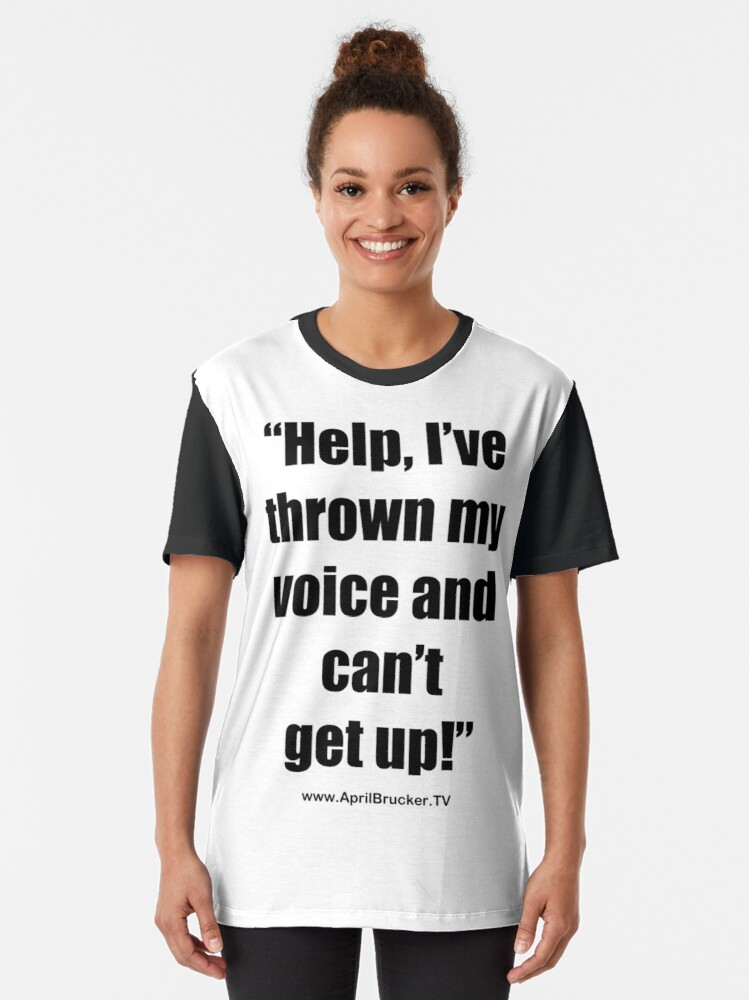 Alternate view of I've Thrown My Voice! Graphic T-Shirt