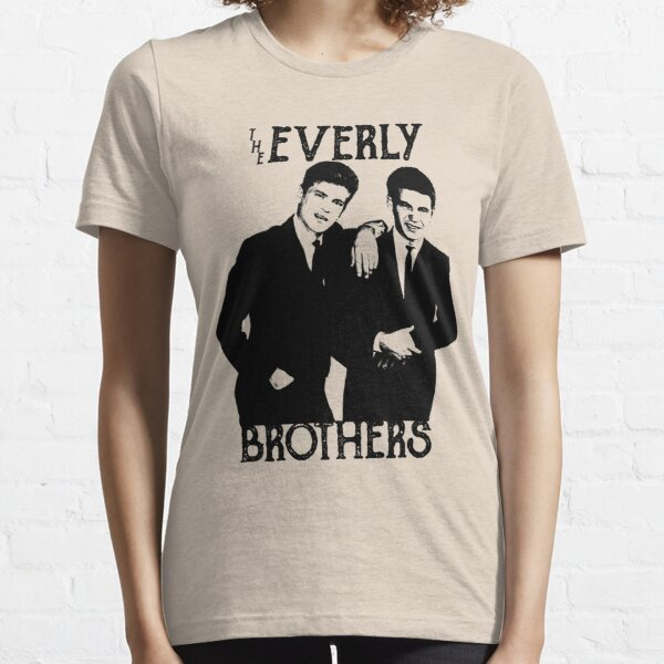 Everly Brothers - The Black Stencil Essential T-Shirt