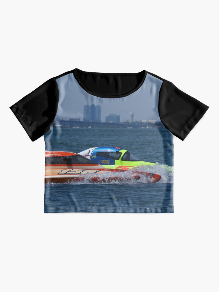 Alternate view of Thunder on the Niagara Hydroplane Boat Racing Chiffon Top