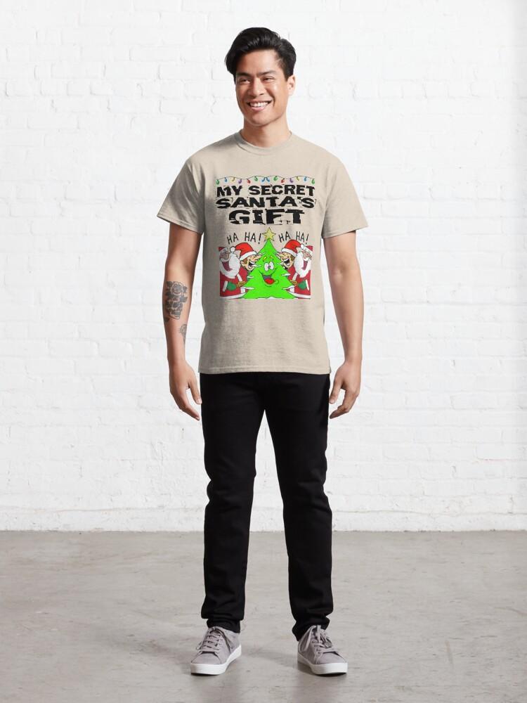 Alternate view of Secret Santa Gift T-Shirt Design Classic T-Shirt