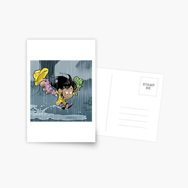 """Rainy Day"" Postcard"