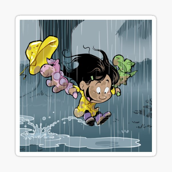 """Rainy Day"" Sticker"