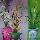 variety orchids trio by zhenlian