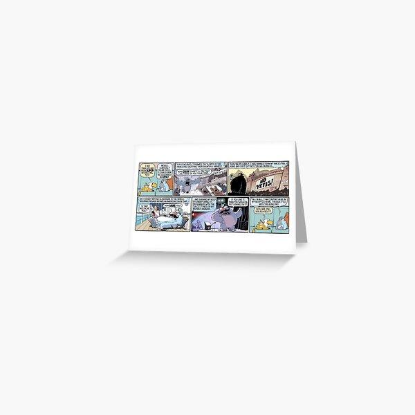 """Epic Yeti Backstory"" Greeting Card"