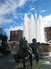 Place Masséna fountain, Nice, France by David Carton