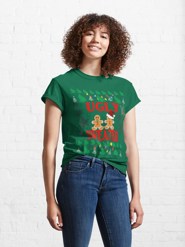 Alternate view of Ugly Sweater Design Classic T-Shirt