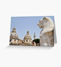 View from the Victor Emmanuel Monument, Rome, Italy Greeting Card