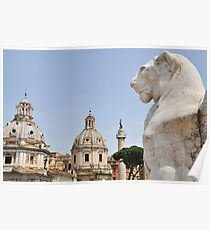 View from the Victor Emmanuel Monument, Rome, Italy Poster