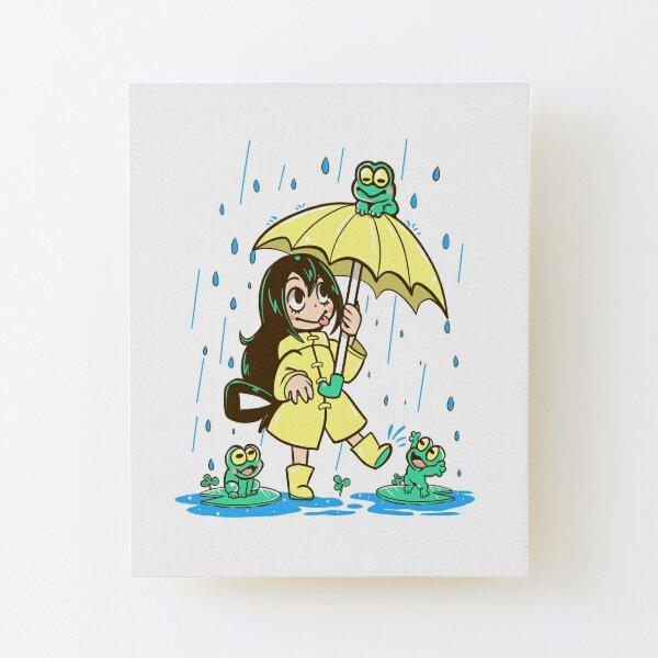 Best Frog Girl Wood Mounted Print