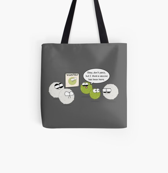 Wanted Virus All Over Print Tote Bag