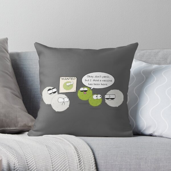 Wanted Virus Throw Pillow