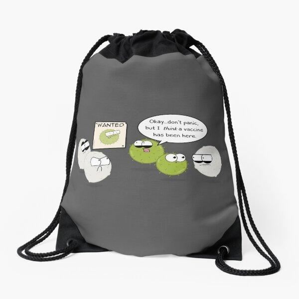 Wanted Virus Drawstring Bag