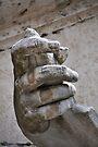 Hand, river god Nile statue, Rome, Italy by David Carton