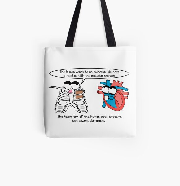Human Body Systems Meeting All Over Print Tote Bag