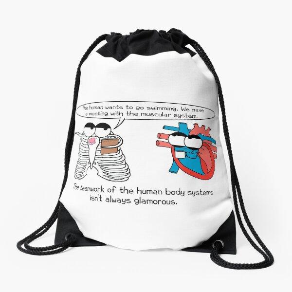 Human Body Systems Meeting Drawstring Bag
