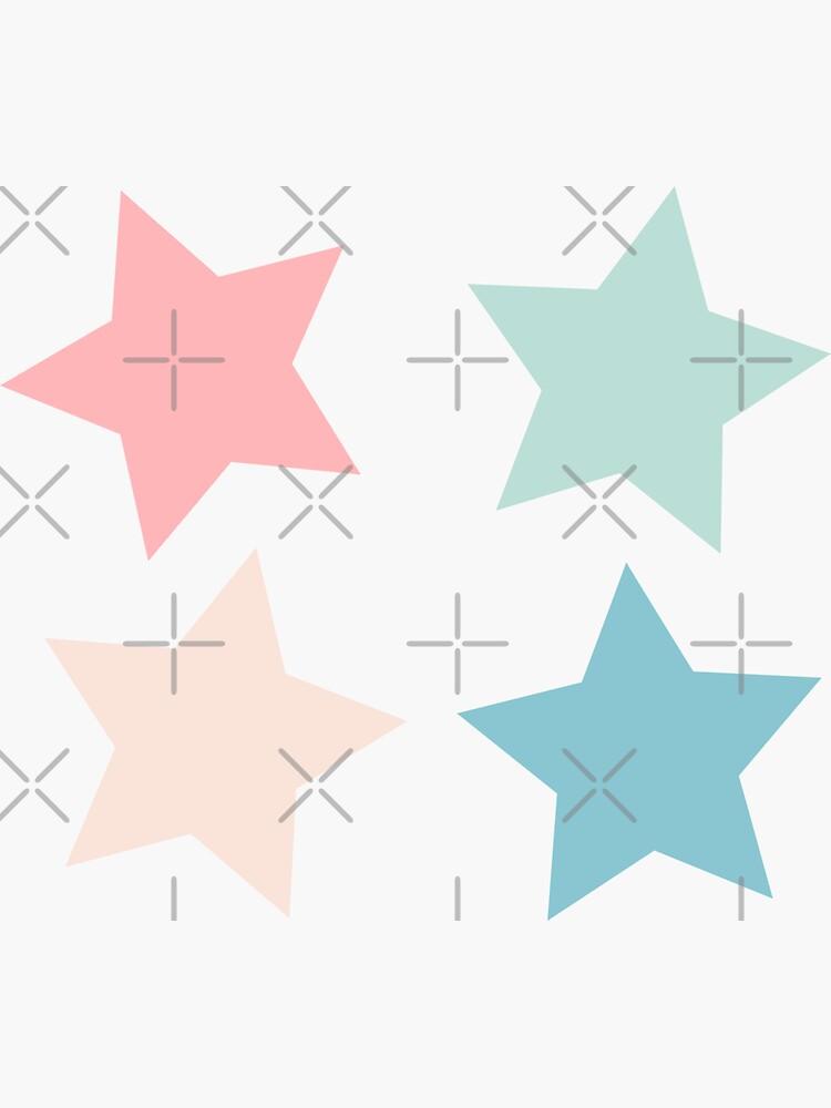 pastel four-pack star set by rj-xo
