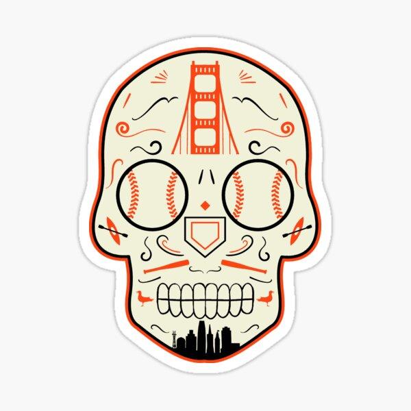 San Francisco Baseball Sugar Skull Sticker