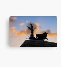 The Quadriga, Victor Emmanuel Monument, Rome, Italy Canvas Print