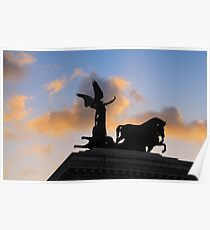 The Quadriga, Victor Emmanuel Monument, Rome, Italy Poster