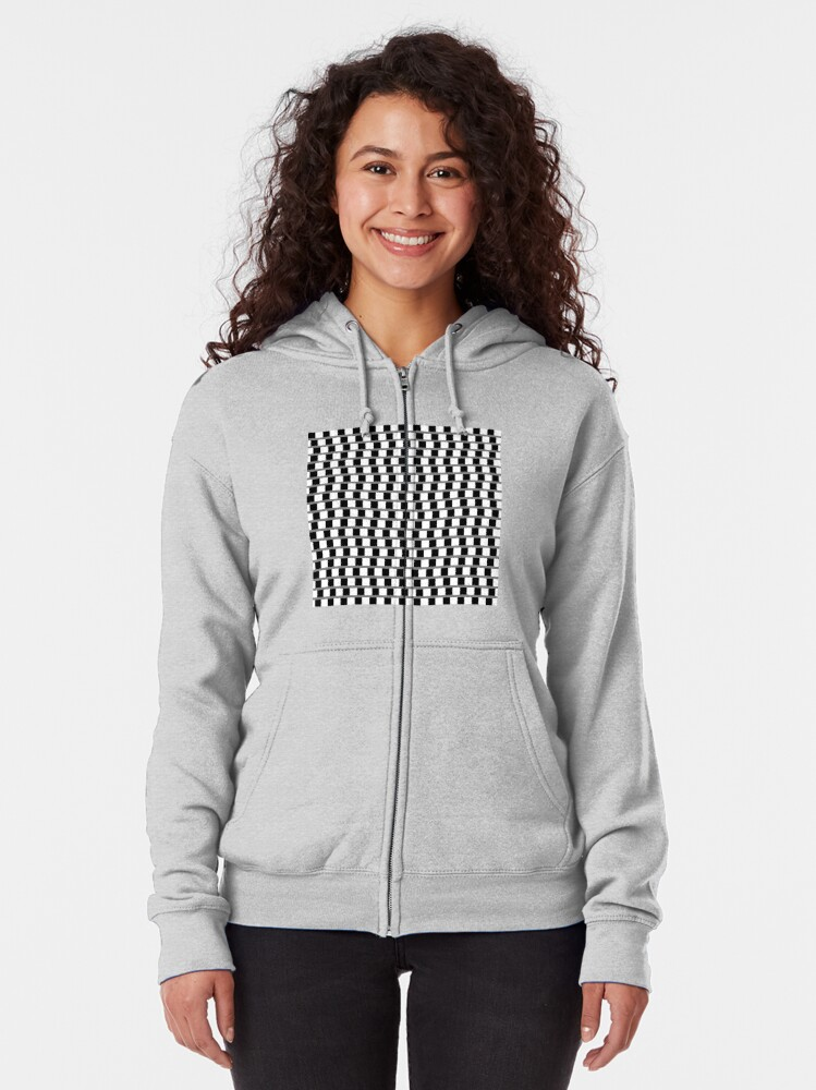 Alternate view of #OpArt, #visual #illusion, #VisualArt, opticalart, opticalillusion, opticalillusionart, opticalartillusion, psyhodelic, psichodelic, psyhodelicart Zipped Hoodie