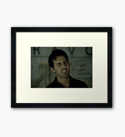 The Gelato Man Framed Print