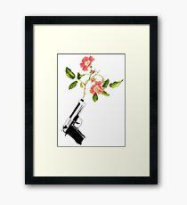 Shoot Flowers, Not Bullets  Framed Print
