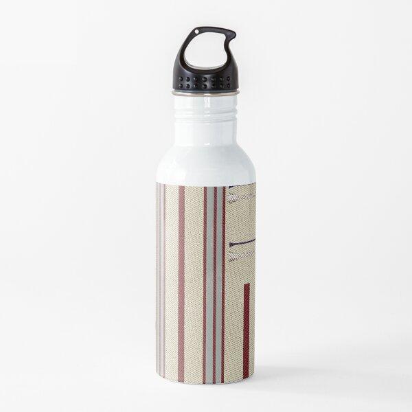 Modern Ticking Stripe Water Bottle