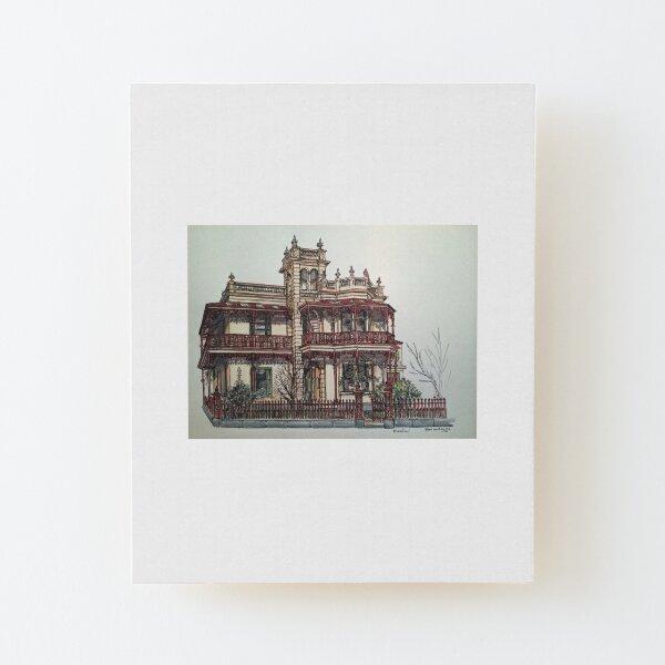 """Phryne Fishers Haus """"Wardlow"""" ©. Aufgezogener Druck auf Holz"""