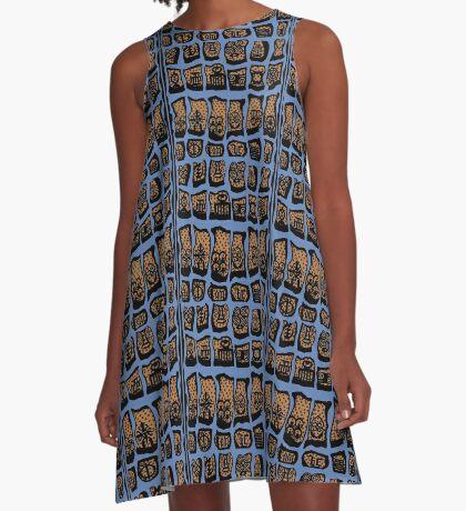 FBeauty Virgo Blues A-Line Dress