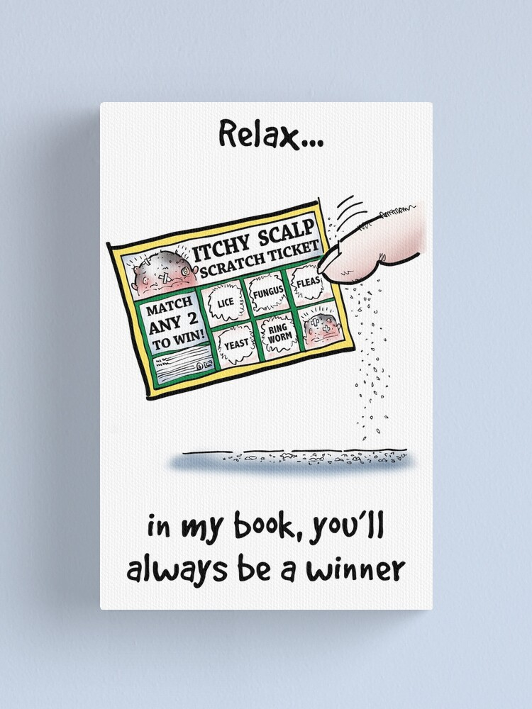 Alternate view of Itchy Scalp Scratch Ticket Canvas Print
