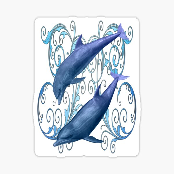 Peace and harmony .. a dolphins tale Sticker