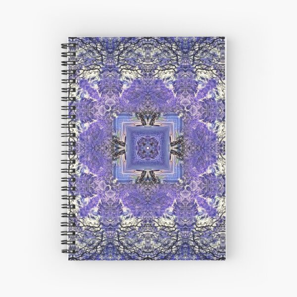 Purple Lace Spiral Notebook