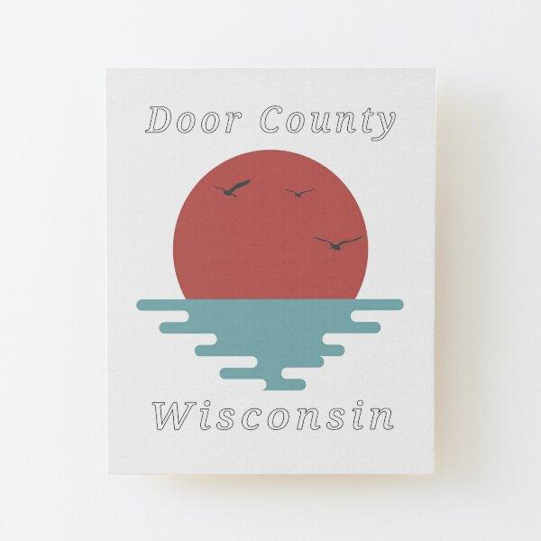 Door County Wisconsin Sunset  Wood Mounted Print