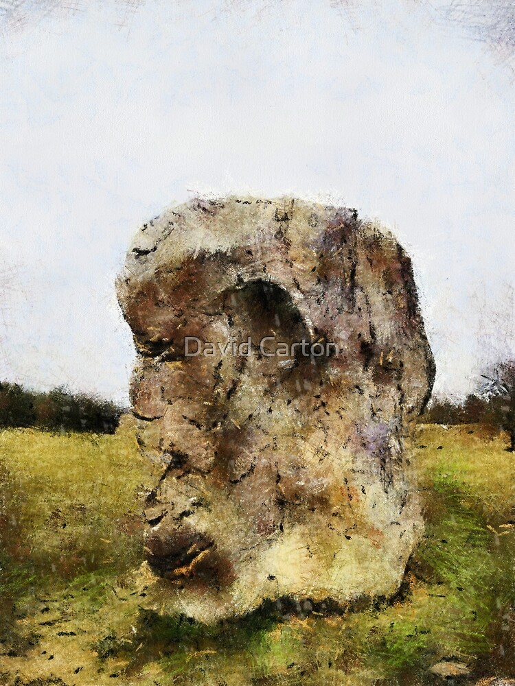 The face in the rock, Avebury Henge, Wiltshire, UK by David Carton