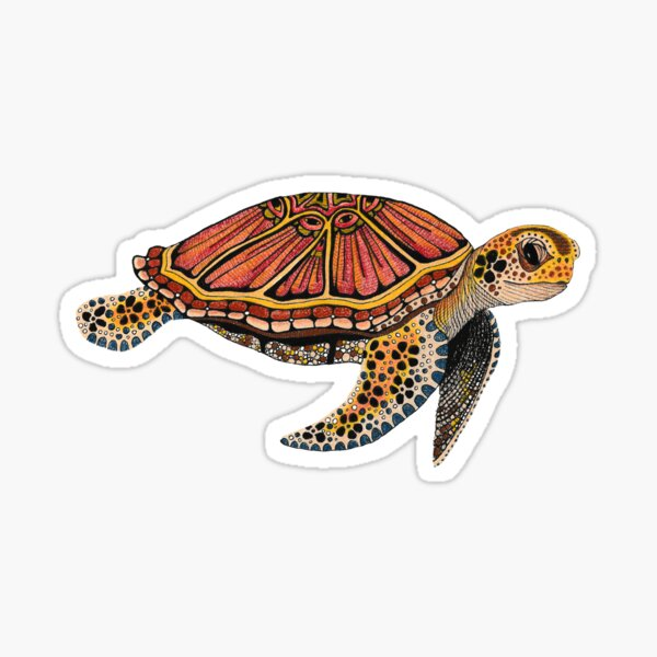 Sea Turtle Totem Sticker
