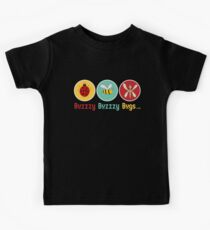 Buzzzy Bugs with Ladybug, Bee and Dragonfly Kids Tee