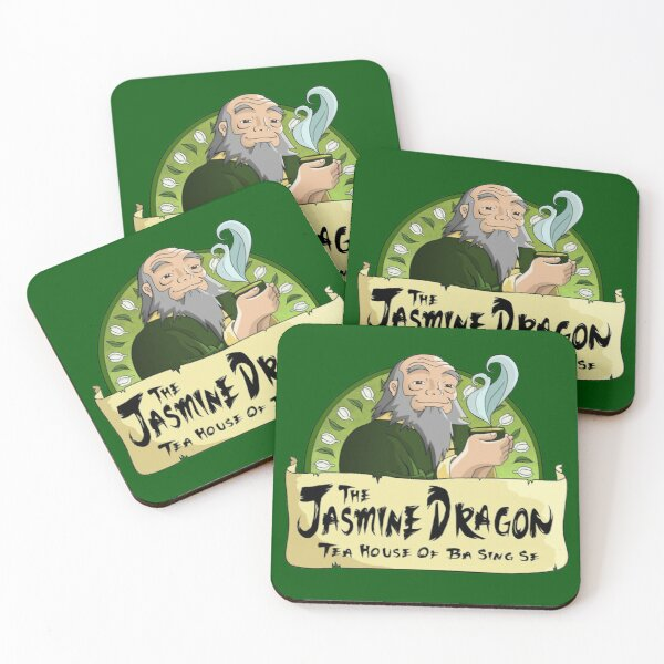 The Jasmine Dragon Tea House Merchandise Coasters (Set of 4)