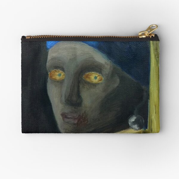 Zombie with the Pearl Earring Zipper Pouch