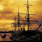 HMS Warrior, Portsmouth Dockyard, UK by David Carton