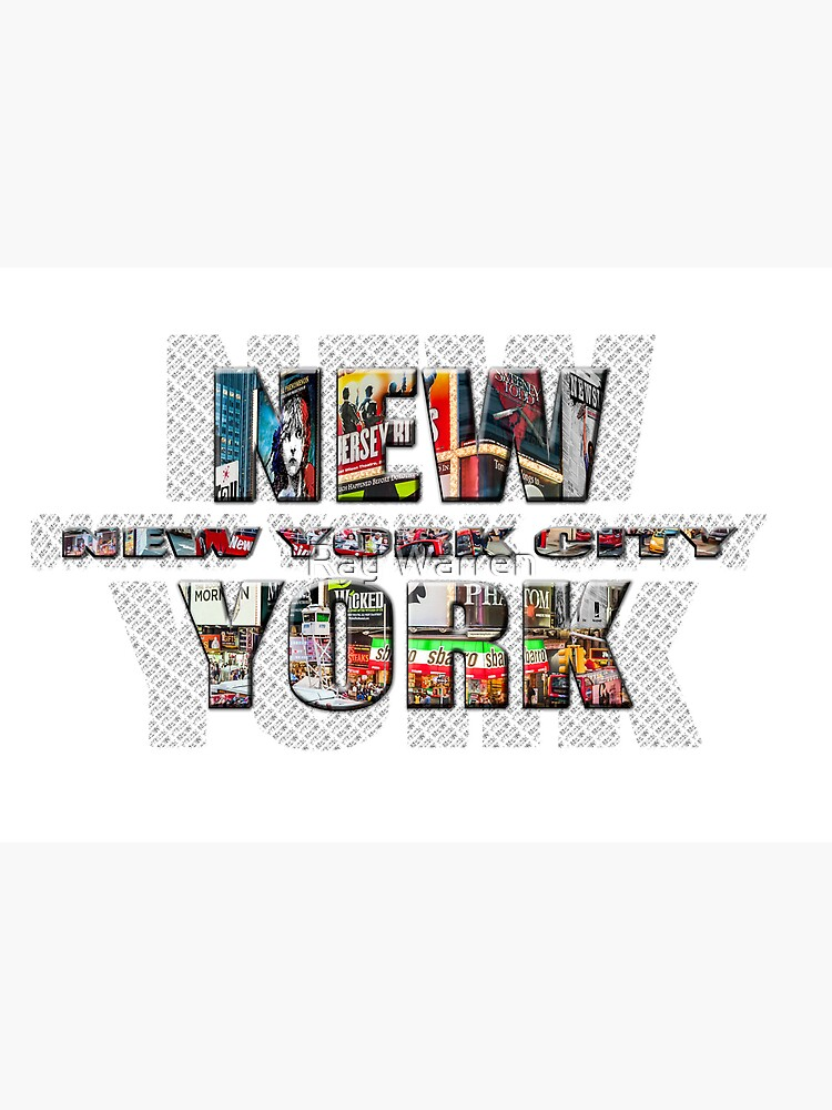 NEW YORK CITY (colour photo-filled type on B&W type background) by RayW