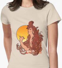 Alphonse Mucha Art Nouveau Vintage Design Women's Fitted T-Shirt