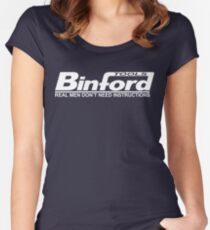 Binford Tools Home Improvement Women's Fitted Scoop T-Shirt