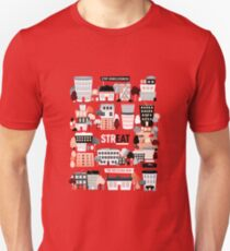 Streat Town on Red T-Shirt