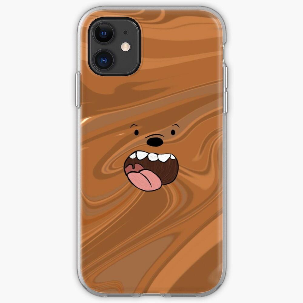 We Bare Bears Grizzly Marble iPhone Case & Cover