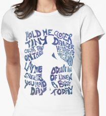 Tiny Dancer in Blue Women's Fitted T-Shirt