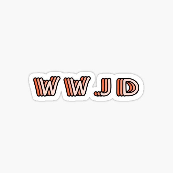 WWJD Sticker