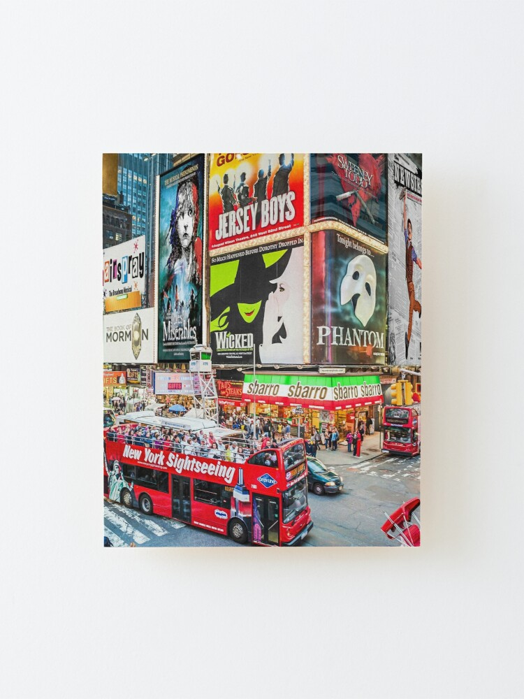 Alternate view of Times Square II Special Edition II Mounted Print