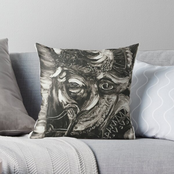 Ganesh III Monoprint Throw Pillow